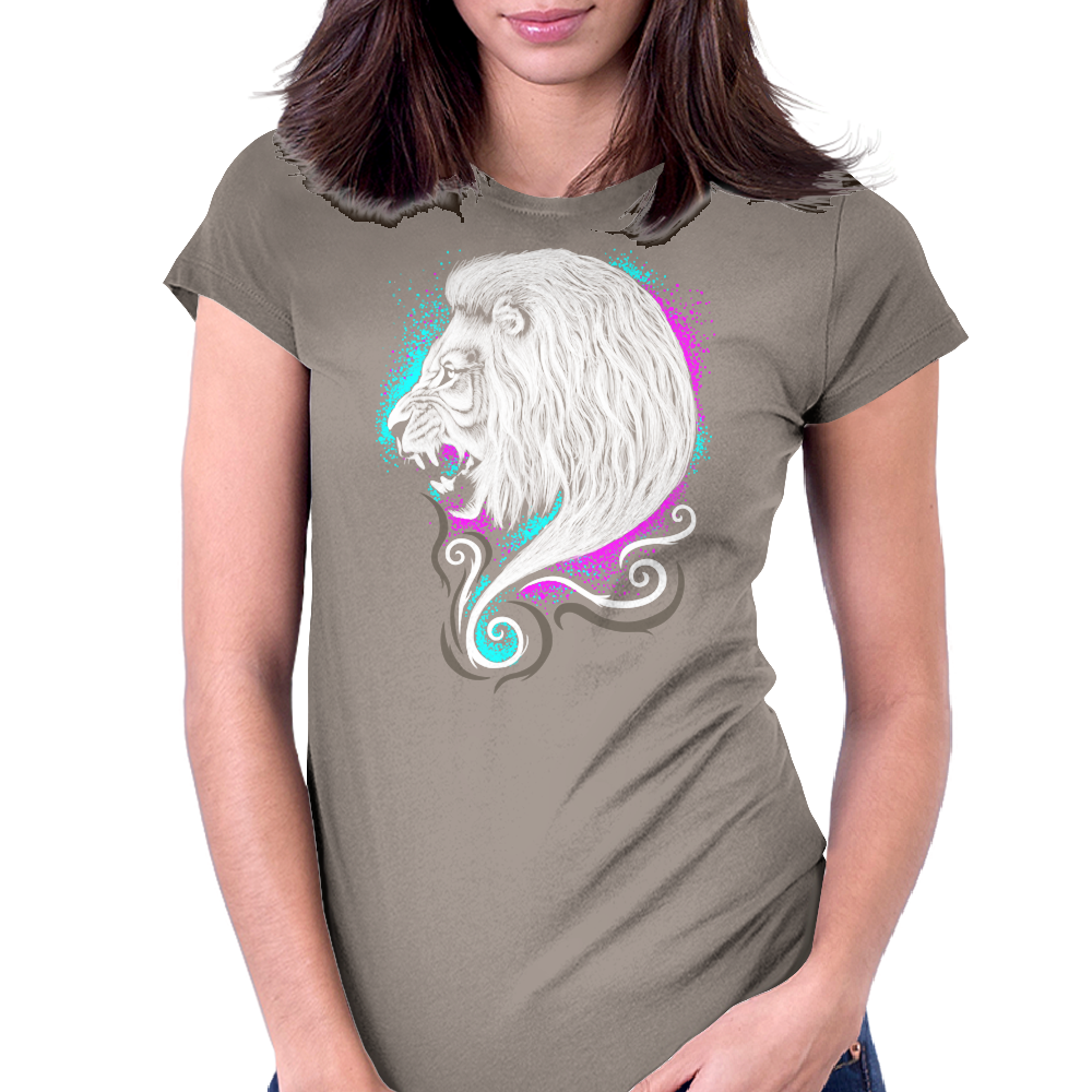 Rainbow Lion Womens Fitted T-Shirt