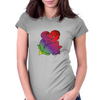 Rainbow Rose Flower Art Womens Fitted T-Shirt