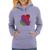 Rainbow Rose Flower Art Womens Hoodie