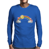 rainbow sun clouds hearts grunge style Mens Long Sleeve T-Shirt