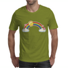 rainbow sun clouds hearts grunge style Mens T-Shirt