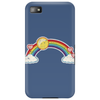 rainbow sun clouds hearts grunge style Phone Case