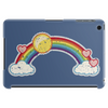 rainbow sun clouds hearts grunge style Tablet