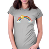 rainbow sun clouds hearts grunge style Womens Fitted T-Shirt