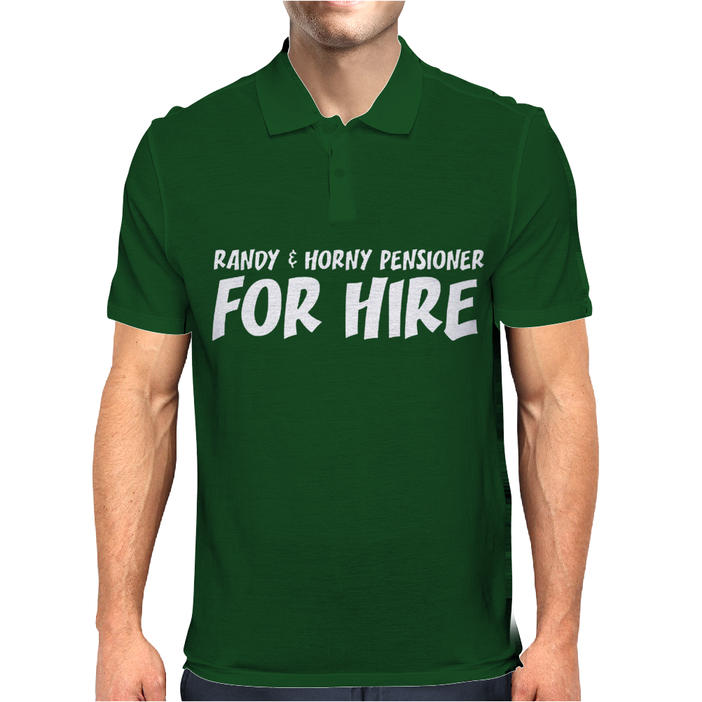 RANDY AND PENSIONER FOR HIRE Mens Polo