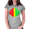 Rasta Skull And Crossbones Womens Fitted T-Shirt