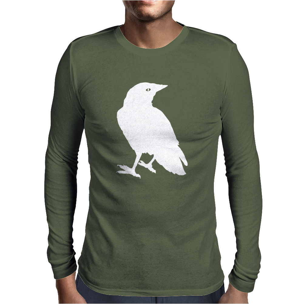 Raven winter scarf Mens Long Sleeve T-Shirt