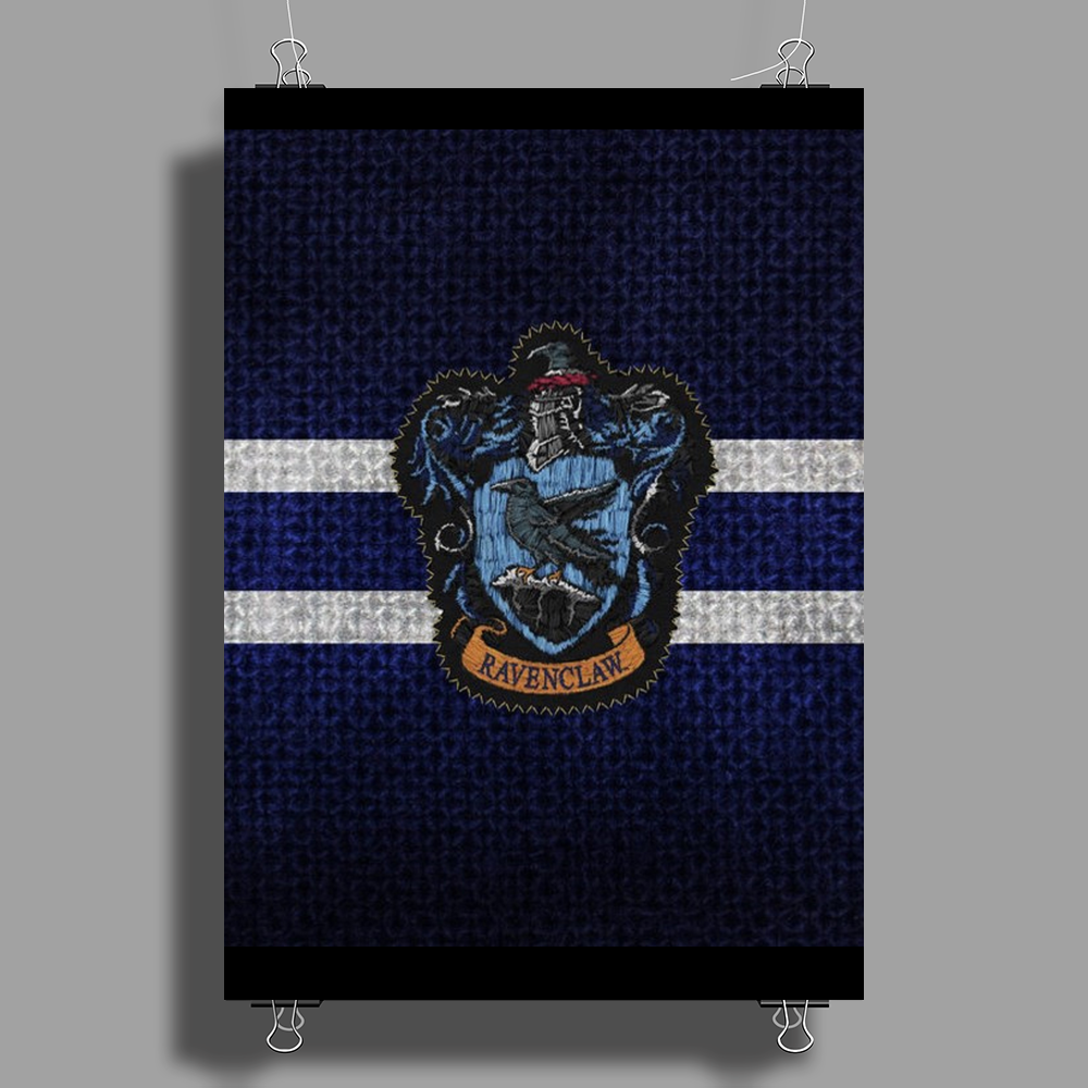 Ravenclaw Knitted Poster Print (Portrait)