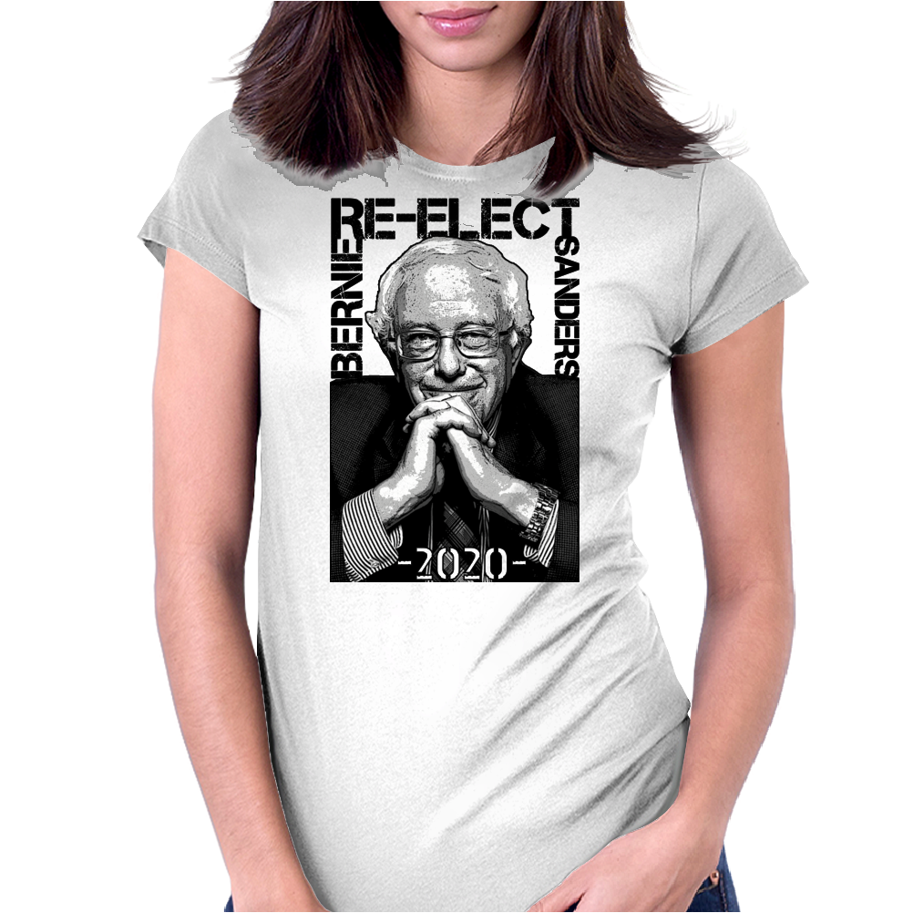 Re-Elect Bernie Sanders 2020 - Texture Womens Fitted T-Shirt