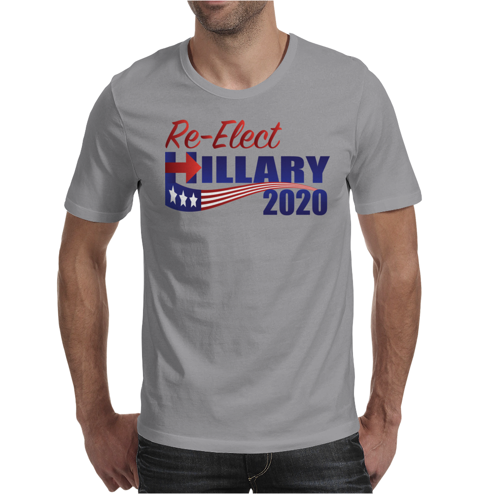 Re-Elect Hillary Clinton 2020 - Flag Underline Mens T-Shirt