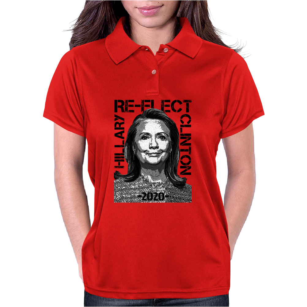 Re-Elect Hillary Clinton 2020 - Texture Womens Polo
