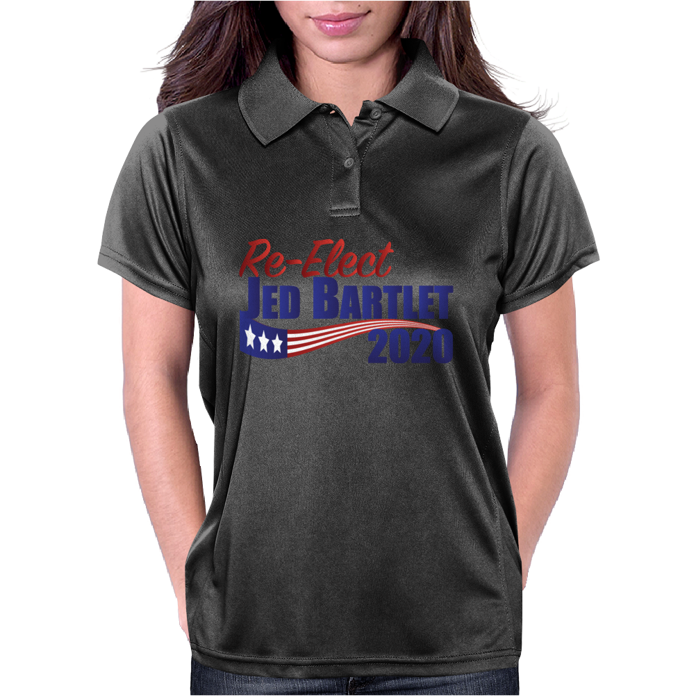 Re-Elect Jed Bartlet 2020 - Flag Underline Womens Polo