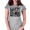 Re-Elect Jed Bartlet 2020 - Textured Womens Fitted T-Shirt