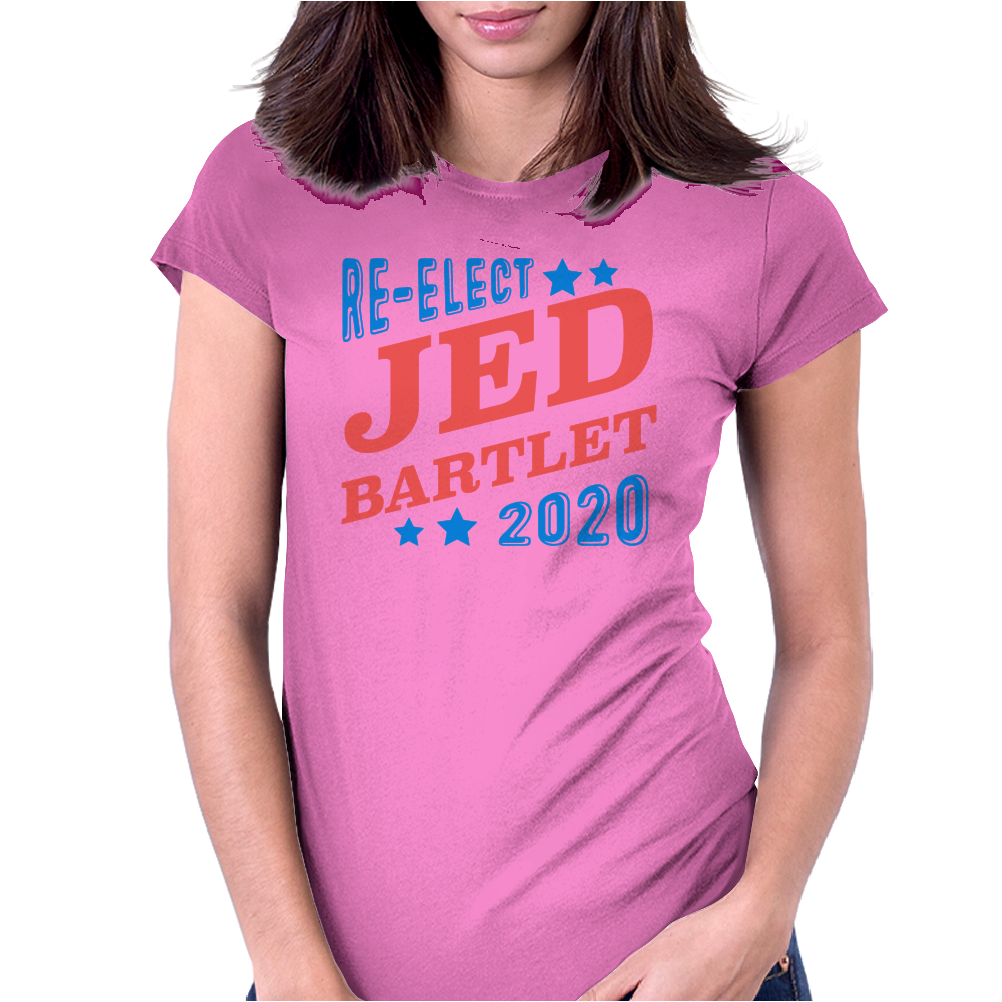 Re-Elect Jed Bartlet 2020 - Tri Color Womens Fitted T-Shirt