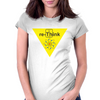 "Re-Think BThe Thorium square from the Periodic Table of the Elements, using the ""Th"" to form ""re-Thi Womens Fitted T-Shirt"