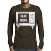Read Books No More TV Mens Long Sleeve T-Shirt