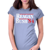 Reagan Bush '84 Womens Fitted T-Shirt
