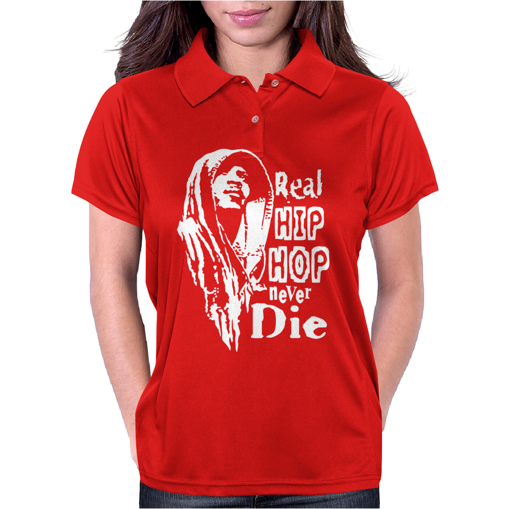 Real Hip Hop Never Die Womens Polo
