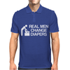 real men change diapers Mens Polo