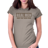 Real Men Hunt For Their Food Father's Day Hunting Fishing Funny Womens Fitted T-Shirt