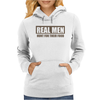 Real Men Hunt For Their Food Father's Day Hunting Fishing Funny Womens Hoodie