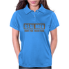 Real Men Hunt For Their Food Father's Day Hunting Fishing Funny Womens Polo