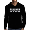 Real Men Hunt Their Food Mens Hoodie