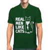 Real Men like Cats Mens Polo