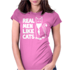 Real Men like Cats Womens Fitted T-Shirt