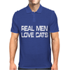 Real Men Love Cats Mens Polo