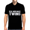 Real Men Make Twins Mens Polo