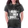 Real Men Quilt Womens Polo