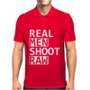 Real Men Shoot Raw Funny Photography Mens Polo