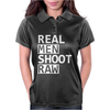 Real Men Shoot Raw Funny Photography Womens Polo