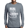 Real Men Shoot Raw Mens Long Sleeve T-Shirt