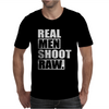 Real Men Shoot Raw Mens T-Shirt