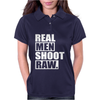 Real Men Shoot Raw Womens Polo