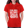 Real Men Use Three Pedals Womens Polo