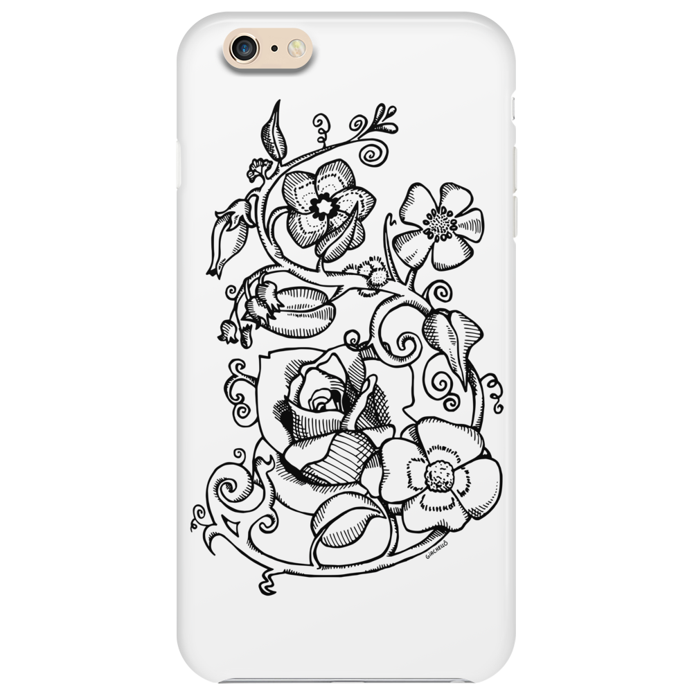 Rebel flowers Phone Case