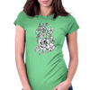 Rebel flowers Womens Fitted T-Shirt