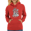 Rebel flowers Womens Hoodie