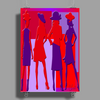Red and Purple Ladies Poster Print (Portrait)