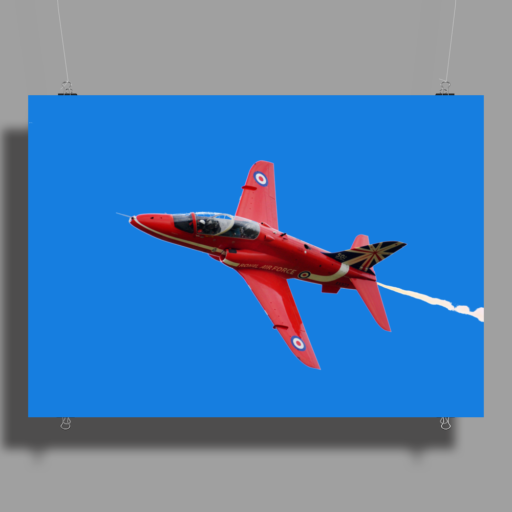 Red Arrows Hawk T1 Poster Print (Landscape)