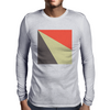 Red Beige Grey Mens Long Sleeve T-Shirt