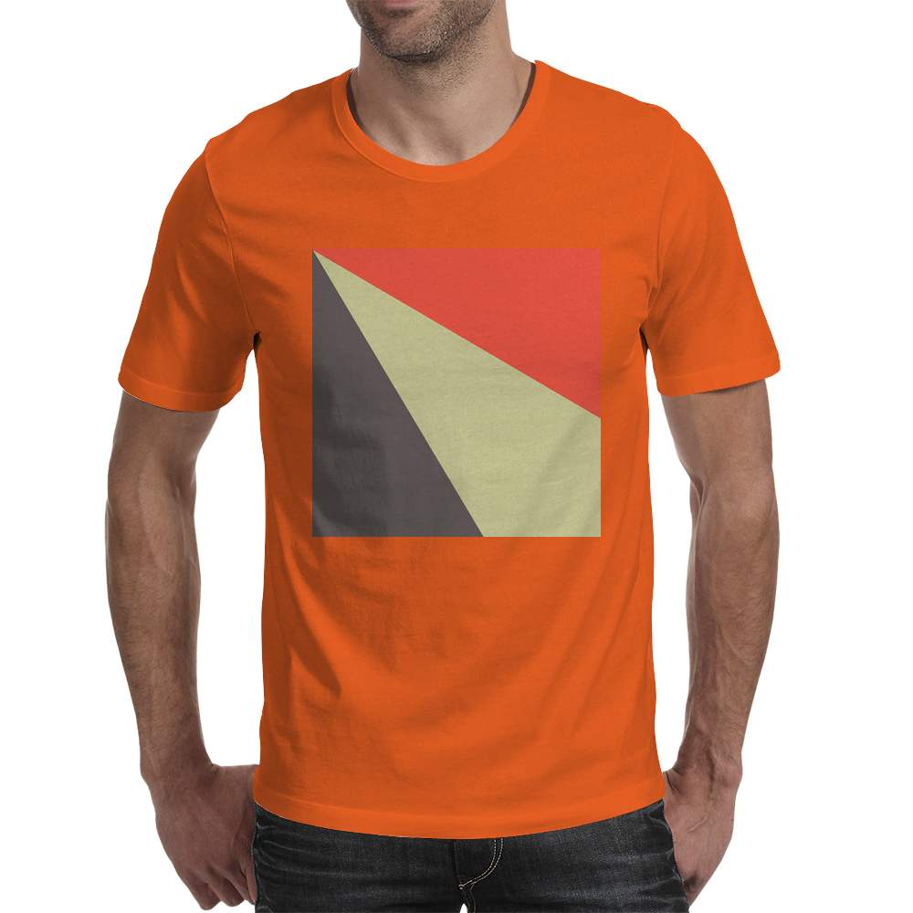 Red Beige Grey Mens T-Shirt