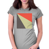 Red Beige Grey Womens Fitted T-Shirt