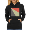 Red Beige Grey Womens Hoodie