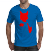 Red Cat Blot Test Mens T-Shirt