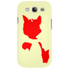Red Cat Blot Test Phone Case