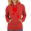 Red Cat Blot Test Womens Hoodie